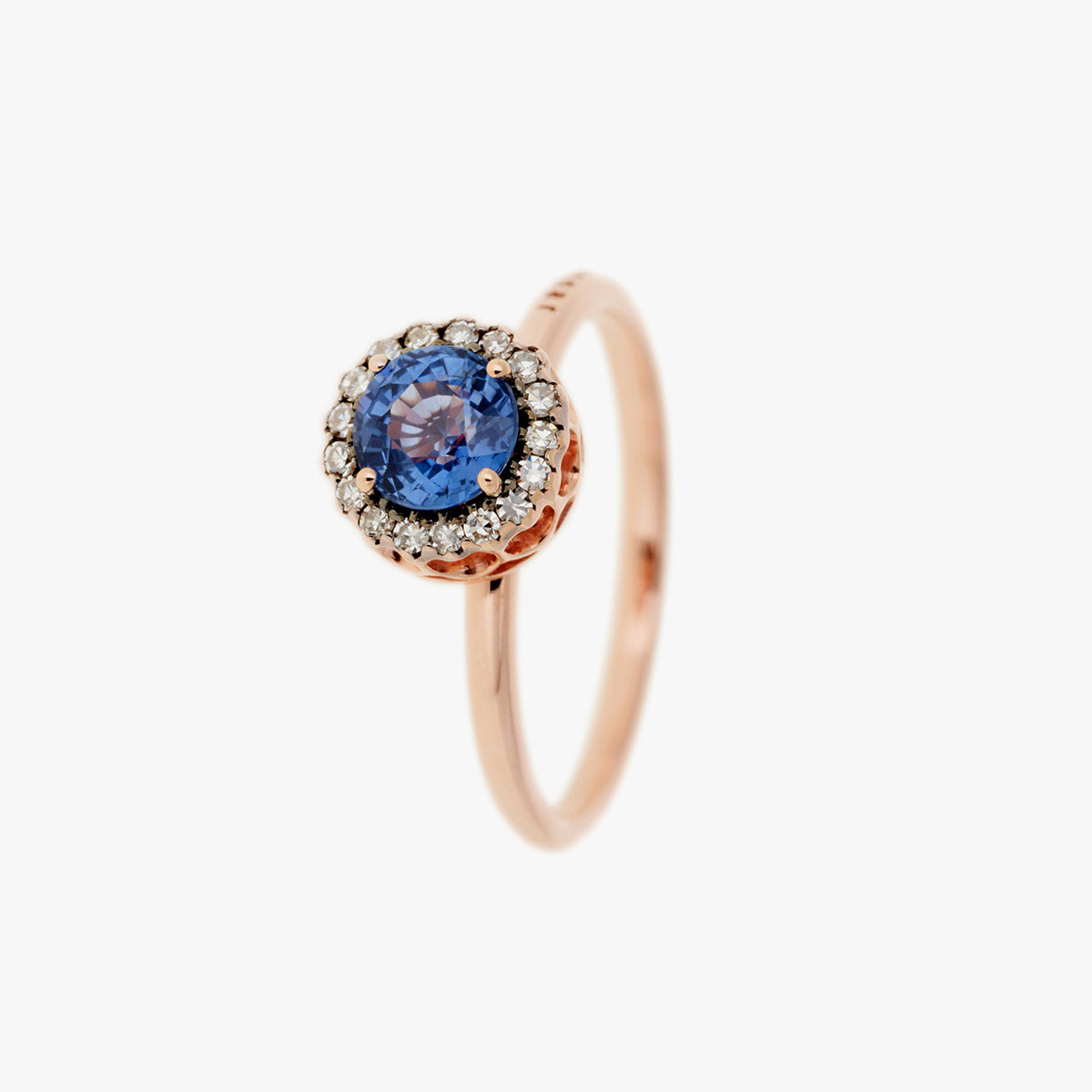 Beirut Ring Ring with Diamonds and Blue Sapphires