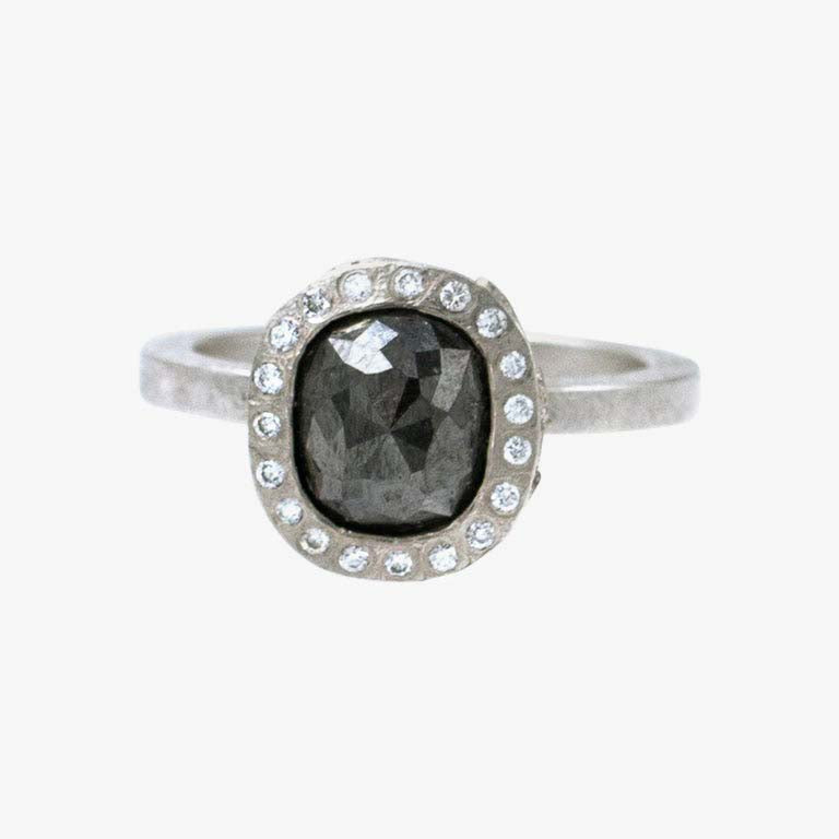 Black Fancy Cut Diamond Ring