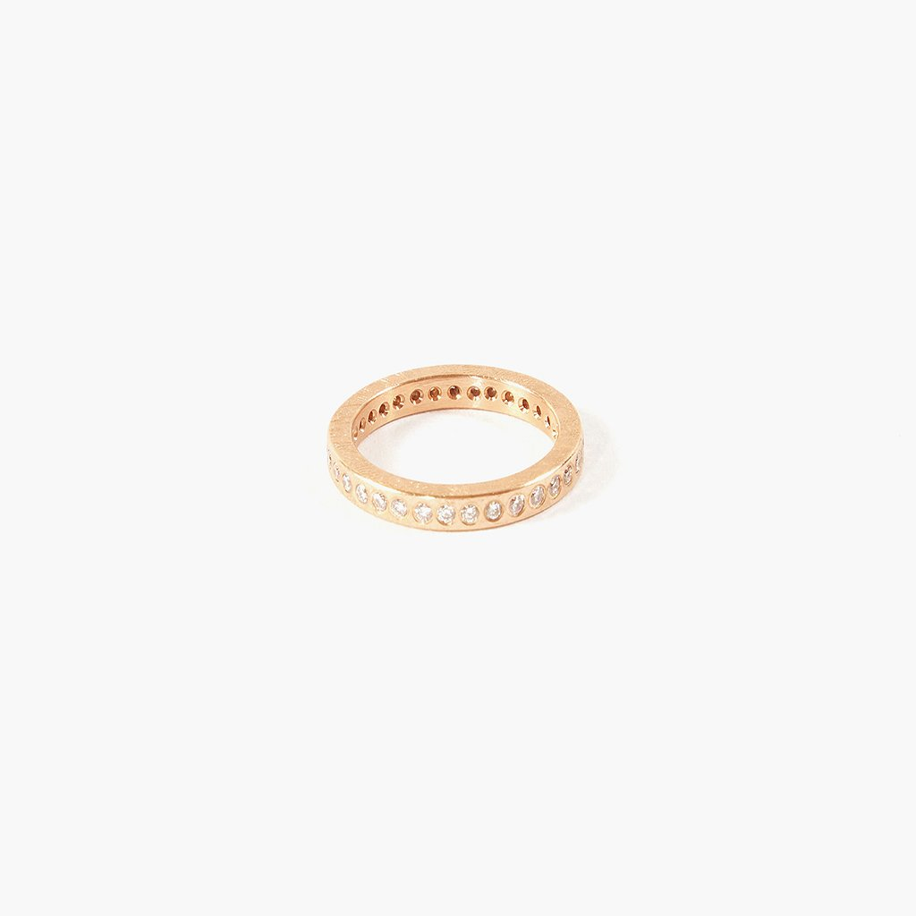 Classic Rose Gold Diamond Band