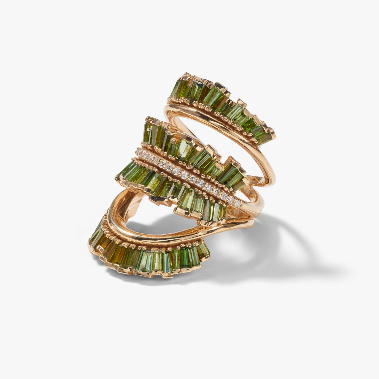 Triple Ruched Ribbon Ring