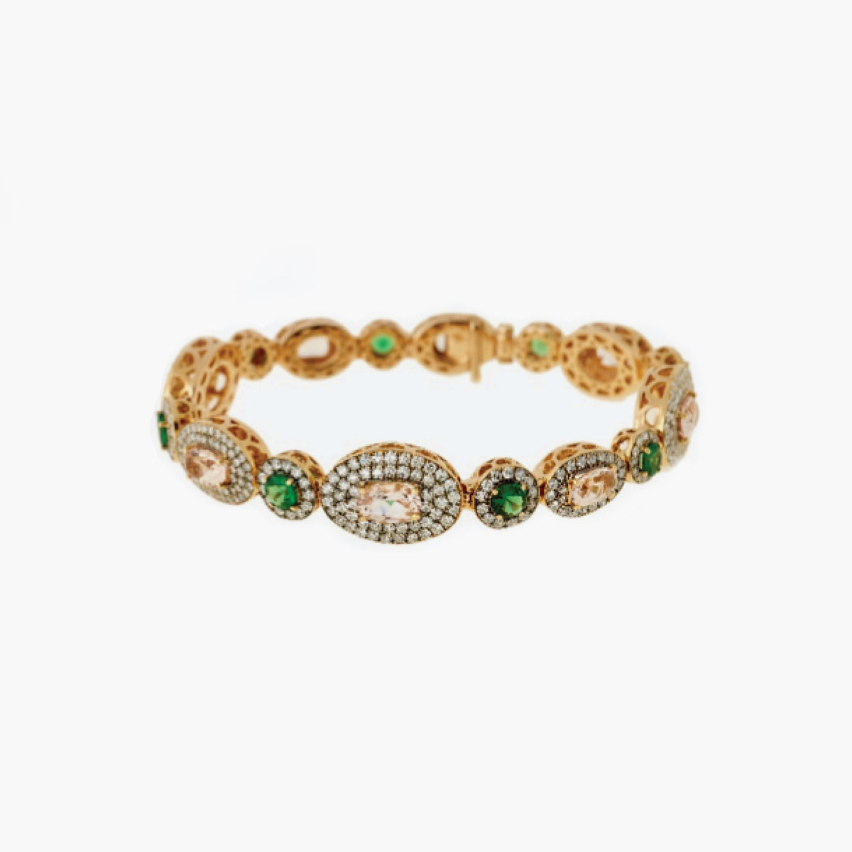 Bracelet with Tsavorite and Diamonds