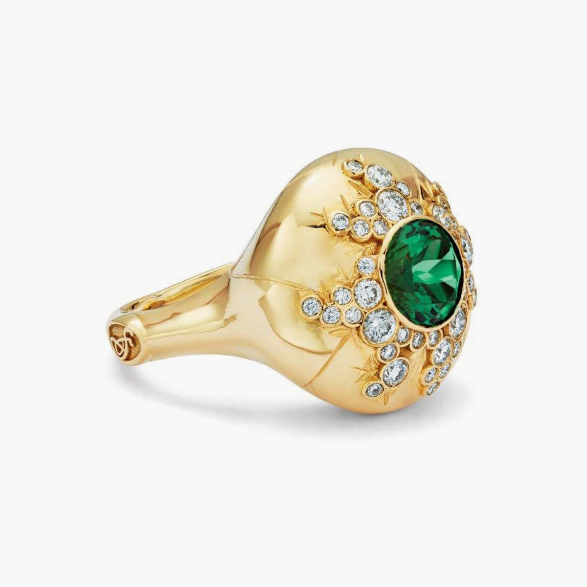 Constellation Collection Dome Ring with Tourmaline