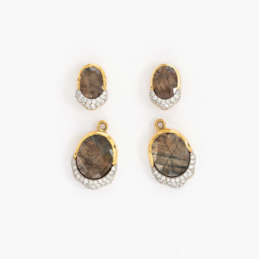 Golden Sapphire Teardrop Earrings