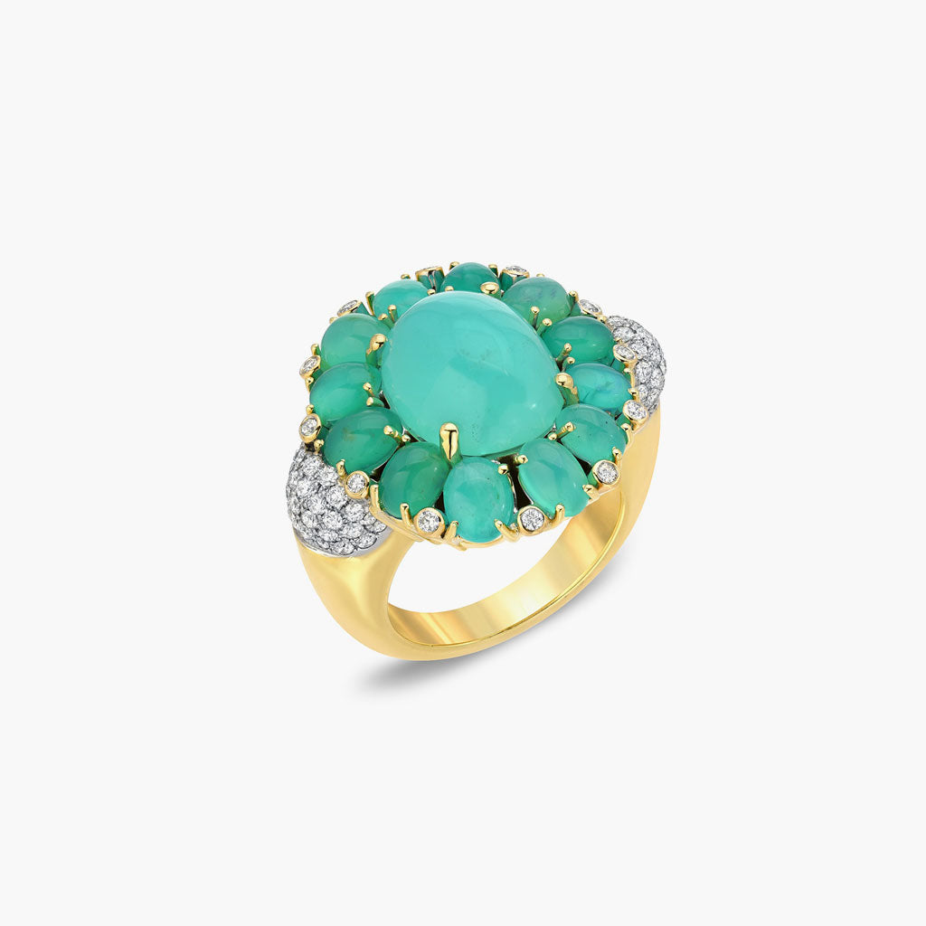 Green Opal Statement Ring