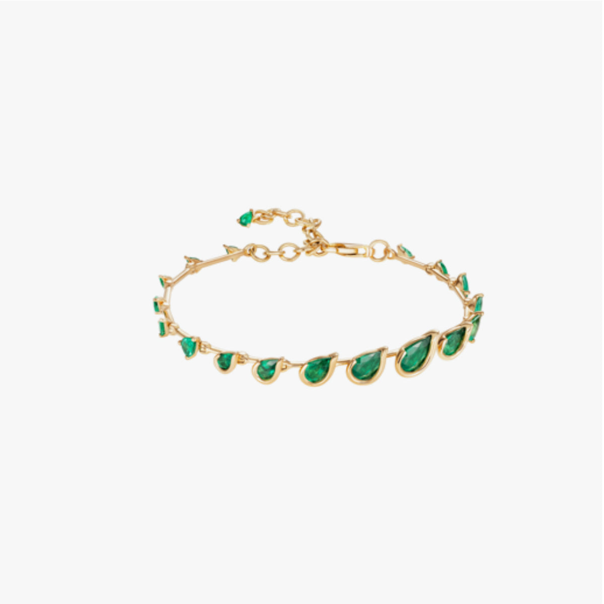 Flame Bracelet with Emeralds