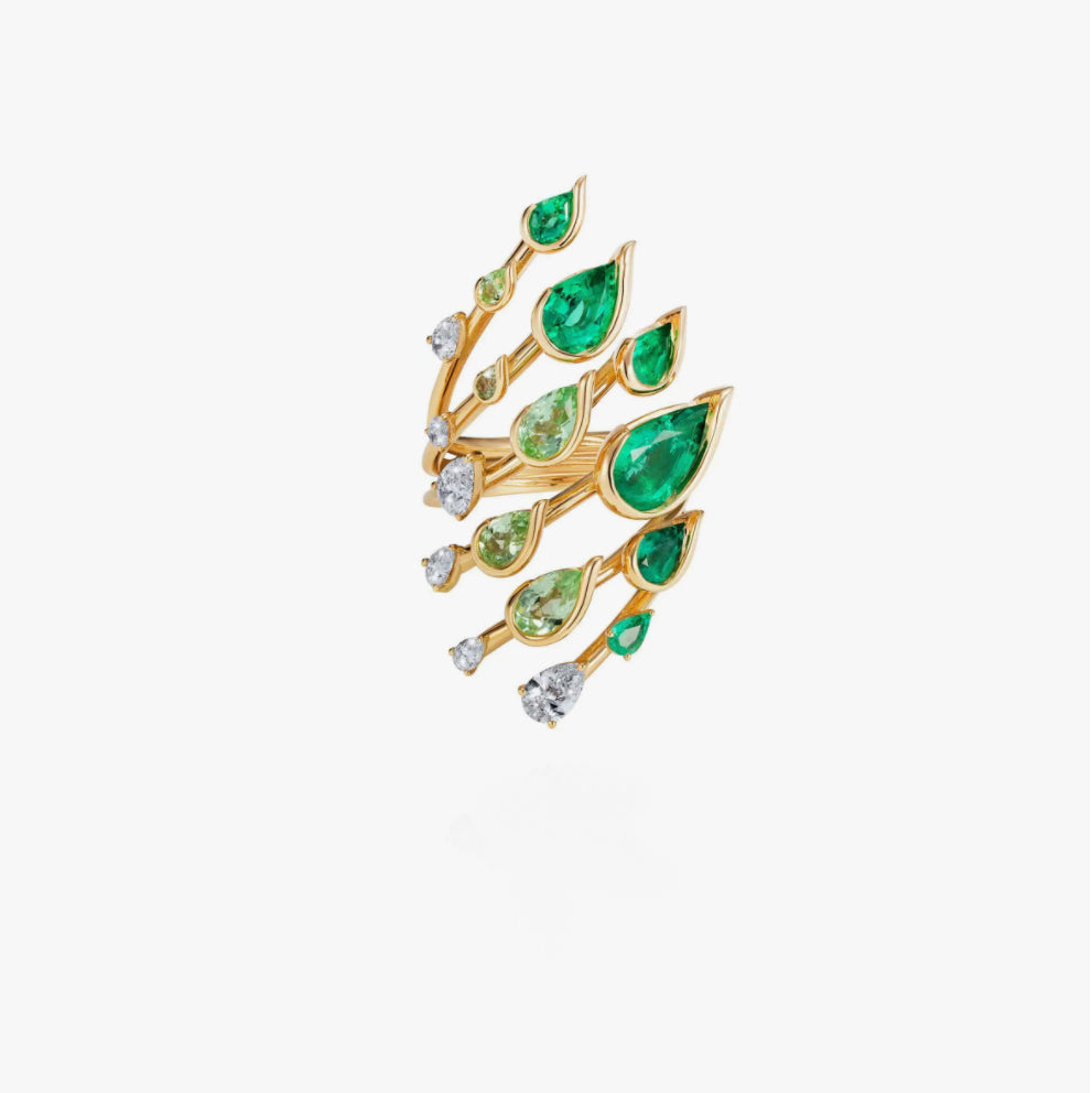 Flame Emerald Ring