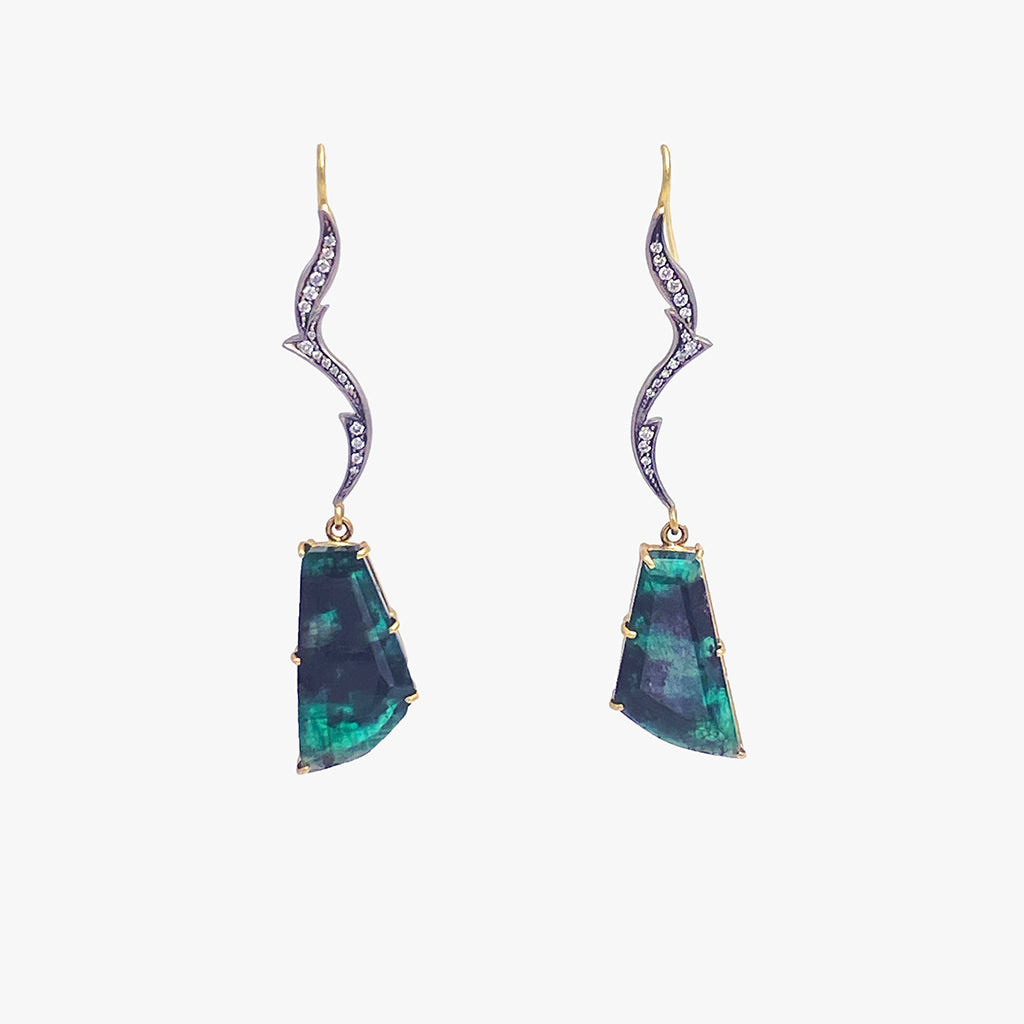 Emerald Slice Drop Earrings