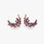 Feather Earrings with Pink Sapphire