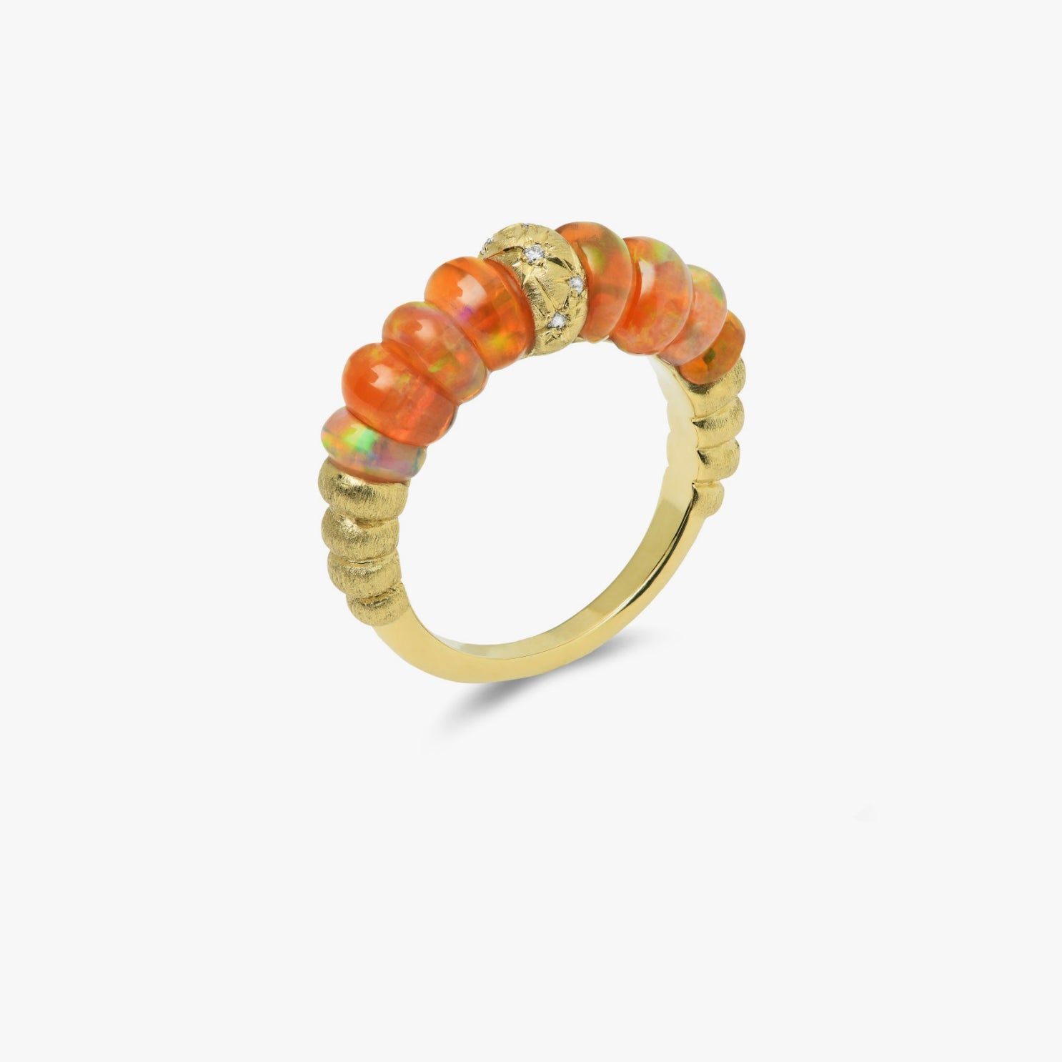 Constellation Collection Band Style Ring with Fire Opals