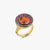 Mandarin Orange Garnet Ring with Pink Sapphire