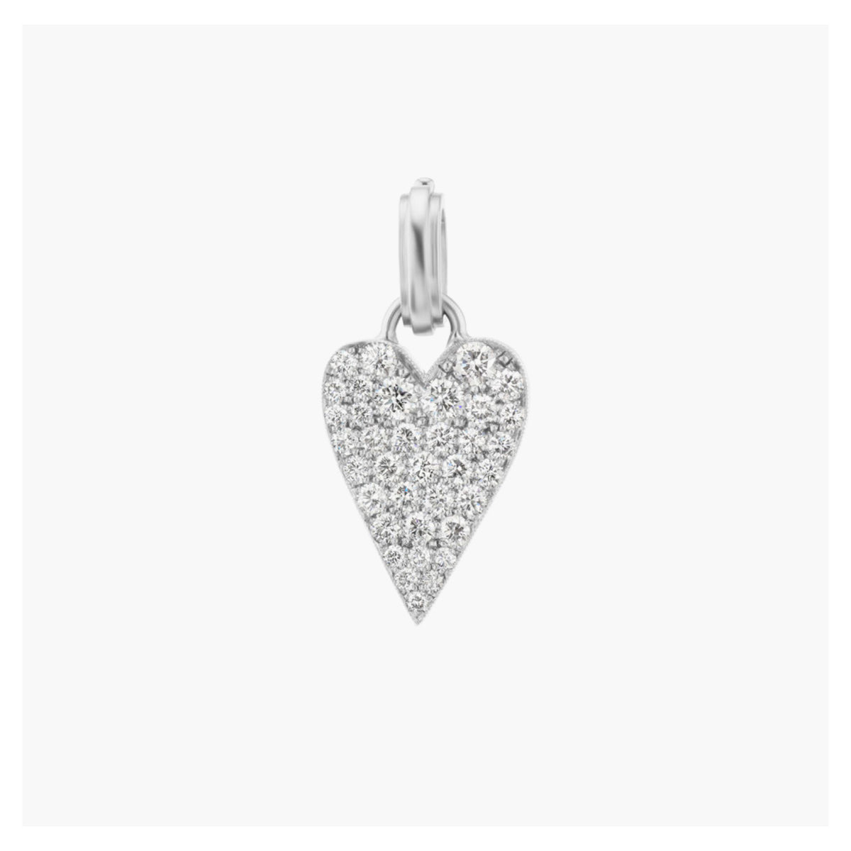 Small Heart Charm with Diamond