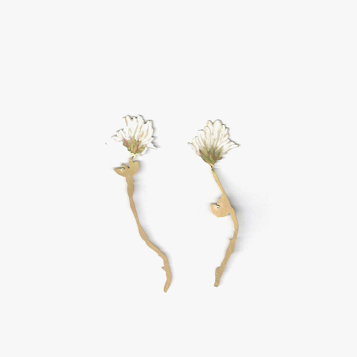 White Clover Drop Earrings