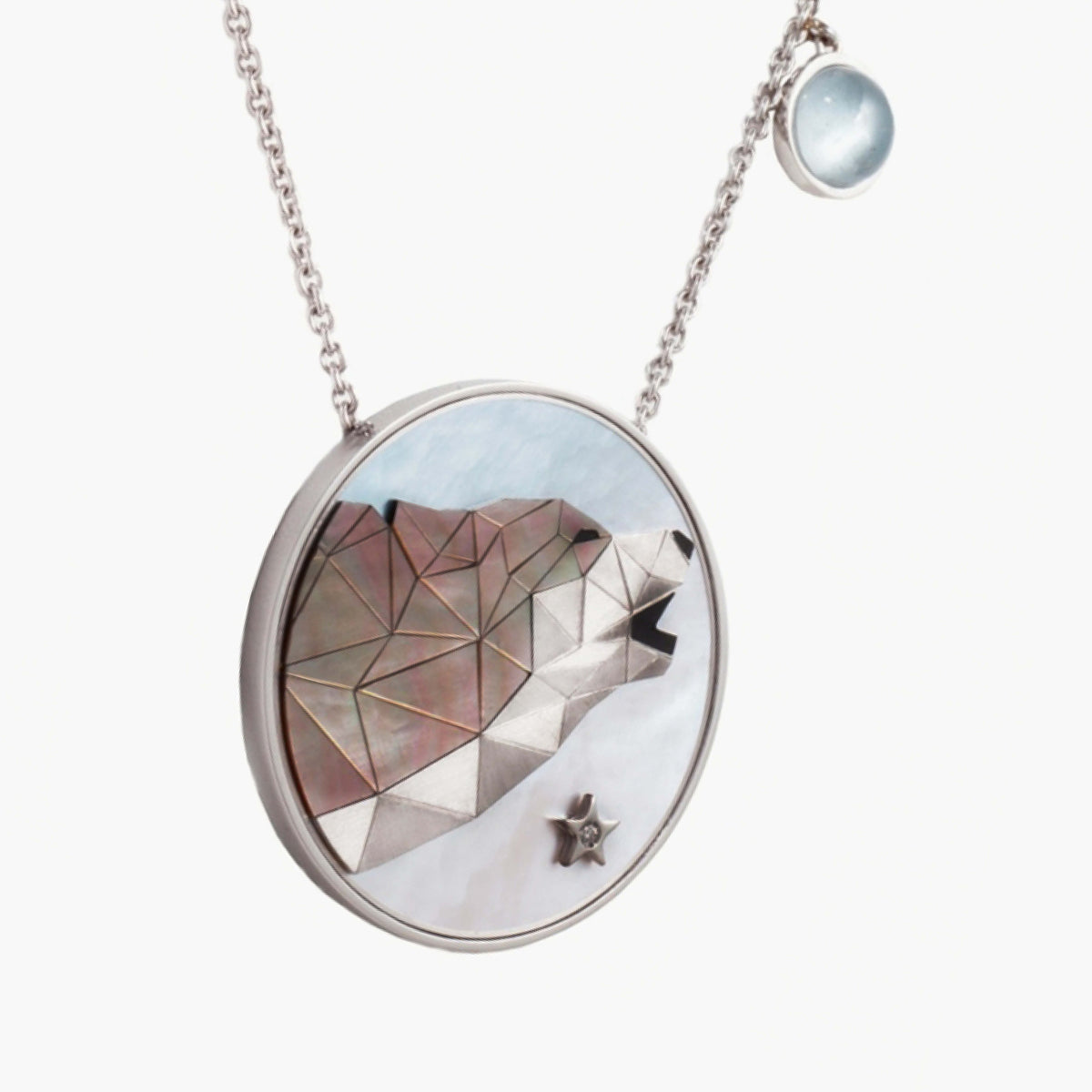 Wolf at the Moon Necklace