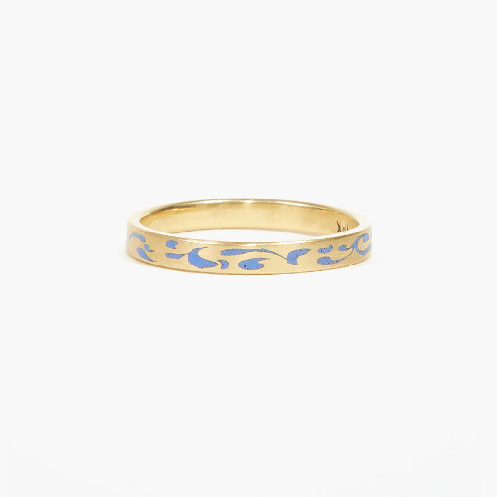 Blue Enameled Ring
