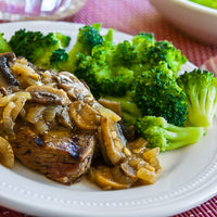 Keto Steak w/ Mushroom Sauce and Broccoli