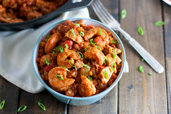 Shrimp and Sausage Jambalaya w/ Sweet Potato