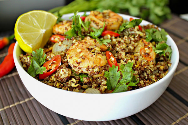 Chipotle-Lime Shrimp w/ Quinoa and Yams