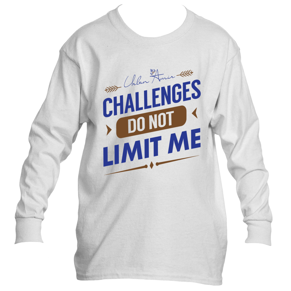 Challenges Do Not Limit Me Kids Long Sleeve T-Shirt