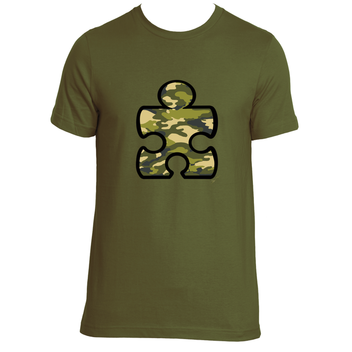 Camouflage Puzzle Piece T-Shirt