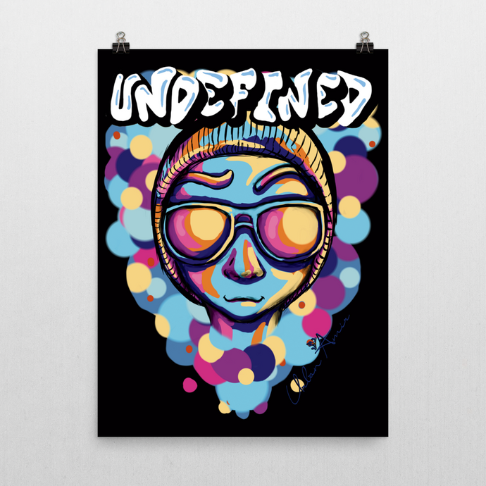 Undefined Blue Poster  (B)18