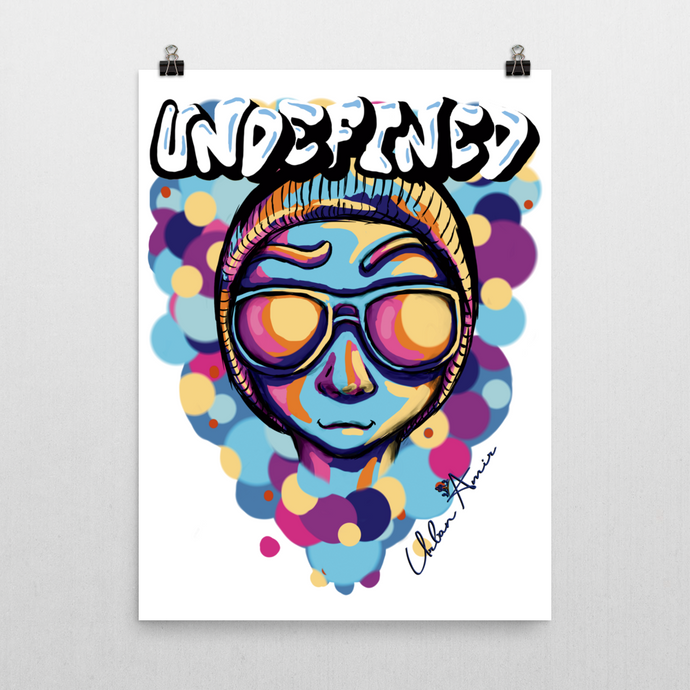 Undefined Blue Poster 18