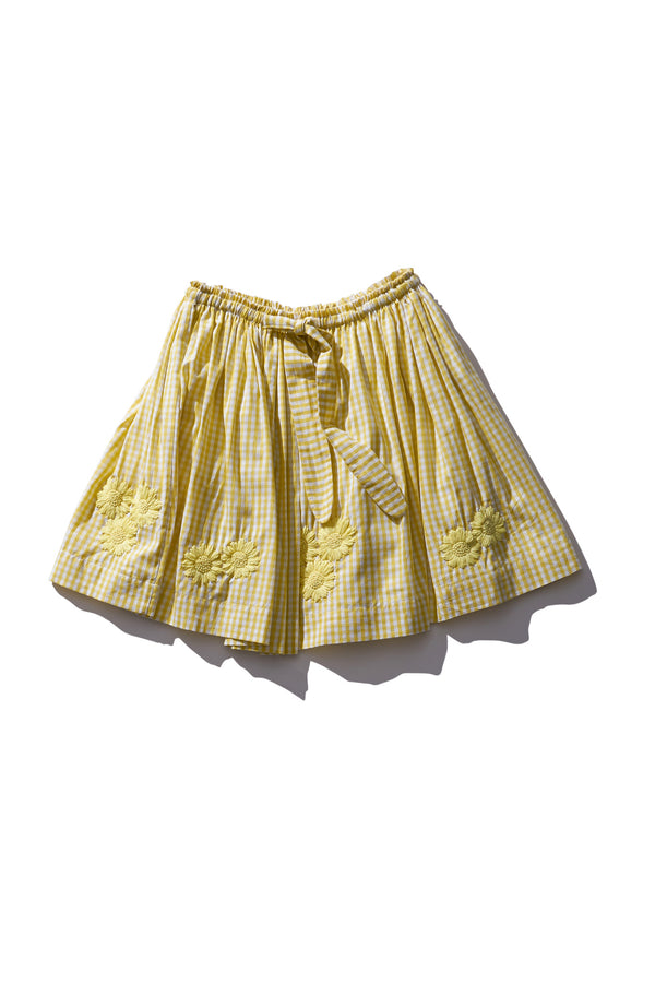 Tęrri Bellė Lemon Gingham Skirt - Innika Choo
