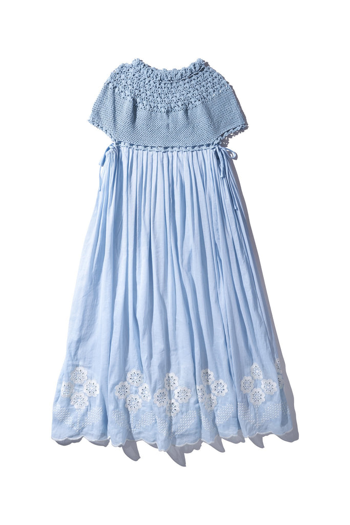 CROCHET COLLAR MAXI  Dusk Blue - Paue Würful