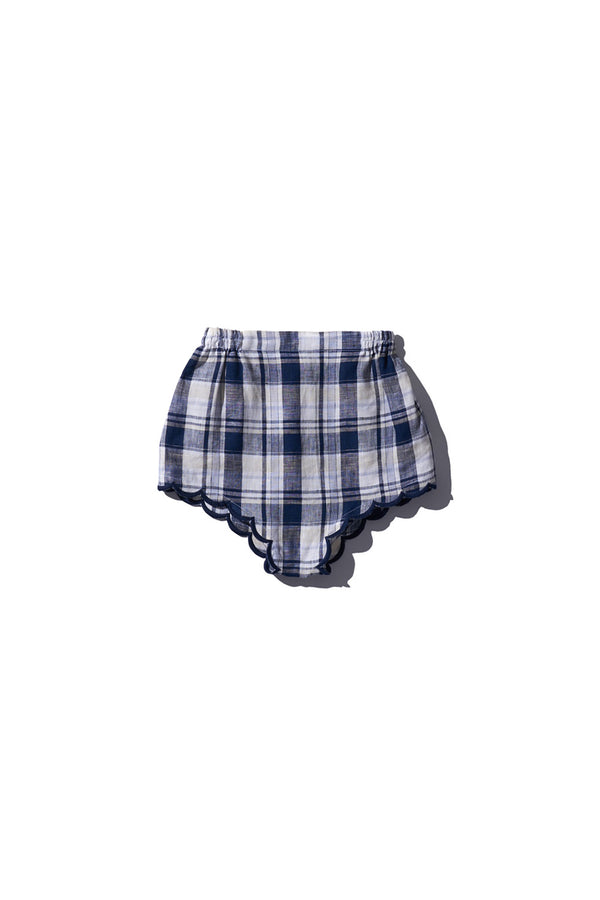 Girls Bloomers Wilma Butfiet - in Navy Cream Check - Innika Choo