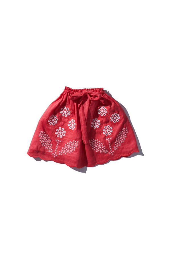 Girls Mini Skirt Flame Red - Innika Choo
