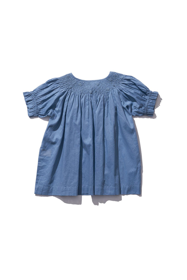 Kids Hand Smocked Collar Blouse - Farrah Weydrims in Clay