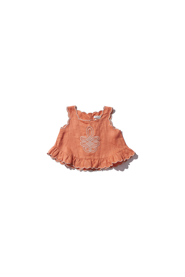 Girls Shell Top - Sui Telaidey in Cinnamon - Innika Choo