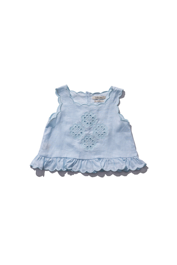 Girls Shell Top - Sui Telaidey in Sea Foam - Innika Choo