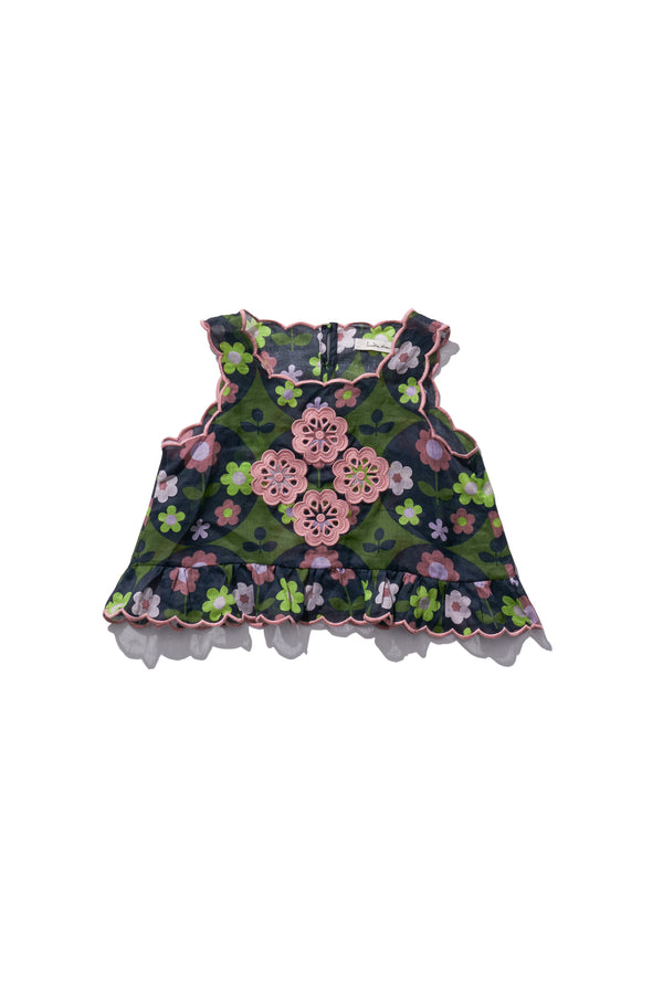 Girls Shell Top - Sui Telaidey in Deep Floret - Innika Choo