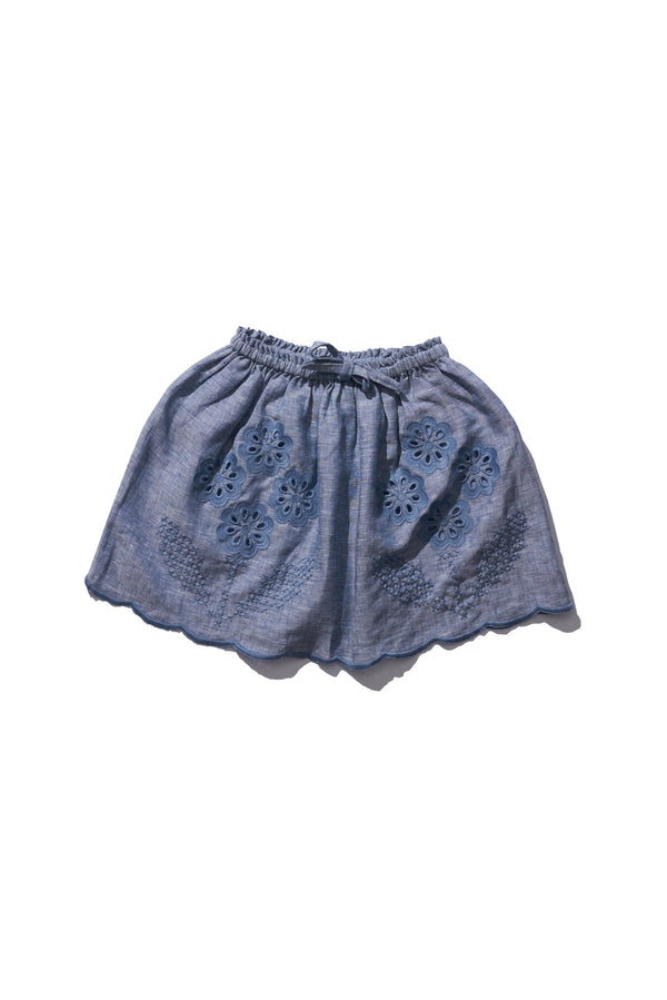Girls Mini Skirt - Terri Belle in Grey Melange - Innika Choo