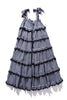 Scallop Frill Dress - Iva Biigdres Black Gingham - PRE-ORDER JAN