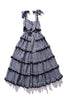 Scallop Frill Dress - Iva Biigdres Black Gingham
