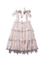 Scallop Frill Mini Dress - Iva Gudtais in Blush - Innika Choo