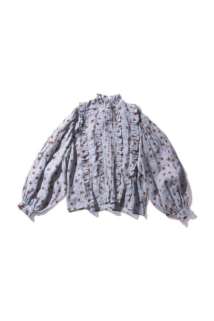 Box Pleat Blouse - Anita Nutop in String PRINT - Innika Choo