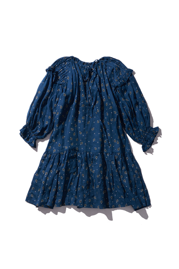 Frill Sleeve Smock Dress - Sarah Tonin in Copen Print - Innika Choo