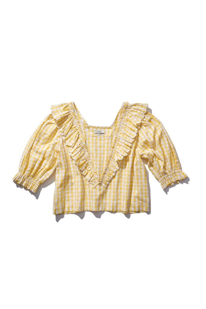Frill Blouse - Anita Eayte in Honeycomb check