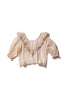 Embroidered Frill Ramie Blouse - Anita Eayte in Irish Cream - Innika Choo