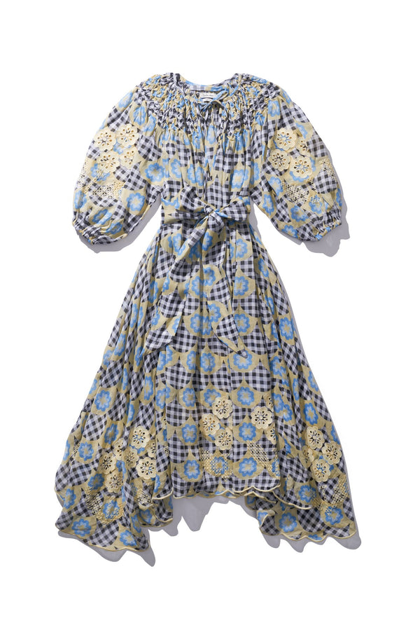 Midi Smock - Hugh Jesmok in Bright Gingham Print