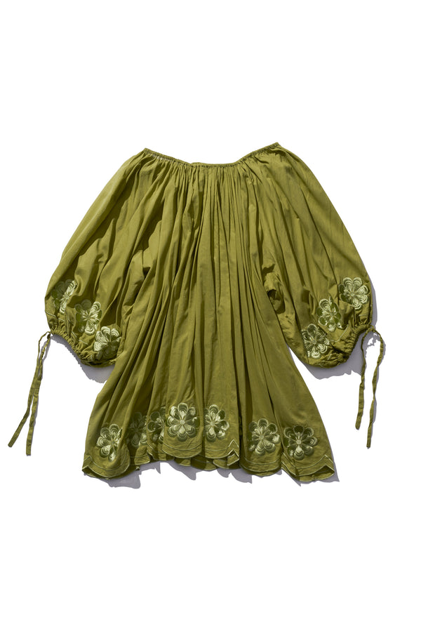 Pocket Smock Mini - Frida Burrds in Army - Innika Choo