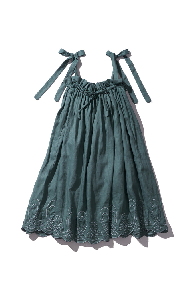 Linen Long Skirt or Dress - Nev Erontym in Sage - Innika Choo