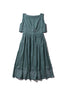 Scallop Ladylike Linen Dress - Fonda Laif in Sage - Innika Choo