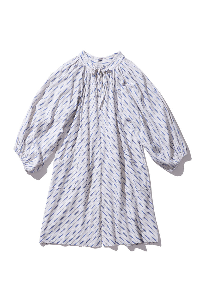 Simple Mini Smock Dress - Bess Mayte in Copen Ikat - Innika Choo