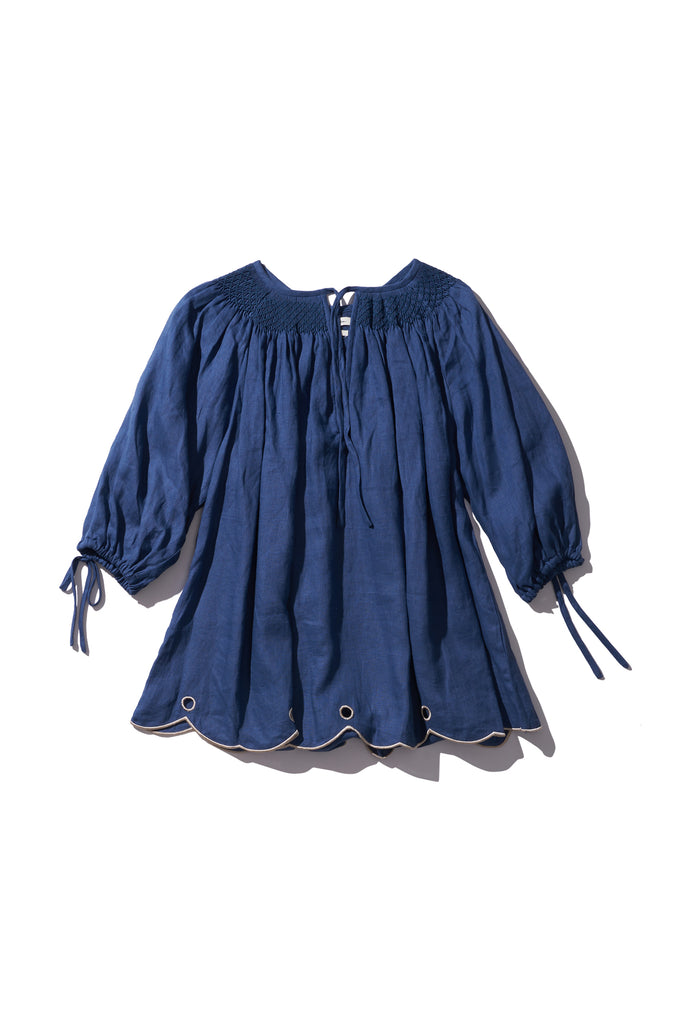 Hand Smocked Tunic - Heidi Muffin in Copen Blue - Innika Choo
