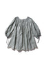 Hand Smocked Linen Tunic - Heidi Muffin in Light Moss - Innika Choo