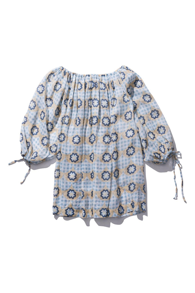 Pocket Smock Mini - Frida Burrds in Light Gingham Print - Innika Choo