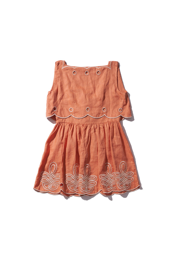 Scallop Ladylike Mini - Fonda Funn in Cinnamon - Innika Choo